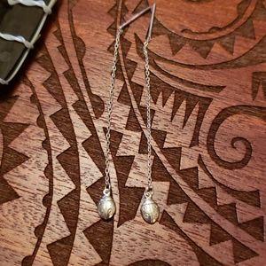 Sterling dangling ladybug earrings